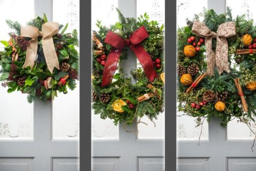 Christmas door wreath by post or for collection