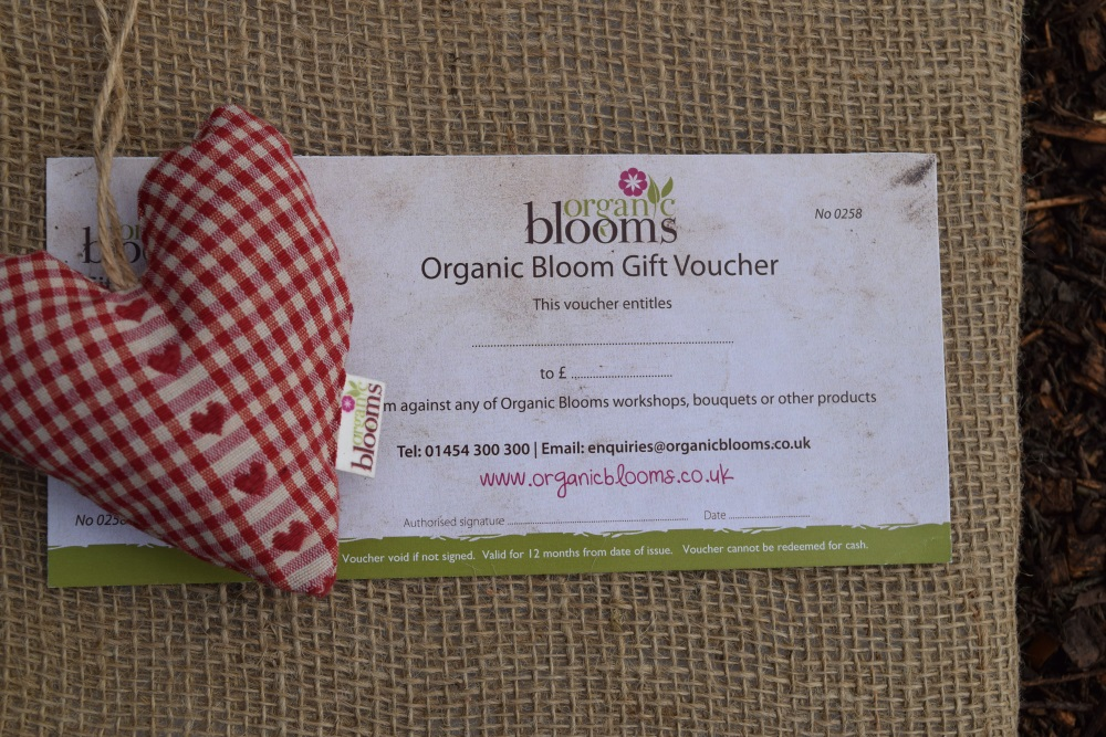 Valentine S Day Heart And Voucher Organic Blooms