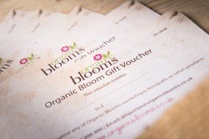 Organic Blooms Gift Voucher, Organic Blooms, Organic Flowers, workshops, ethical giift, Mother's Day, Birthday, Anniversary