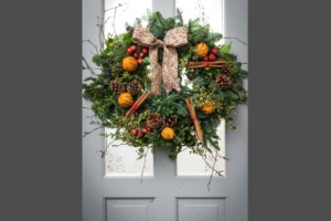 Christmas wreath workshop at Winterbourne Medieval Barn