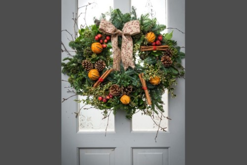 Christmas wreath workshop at Winterbourne Medieval Barn