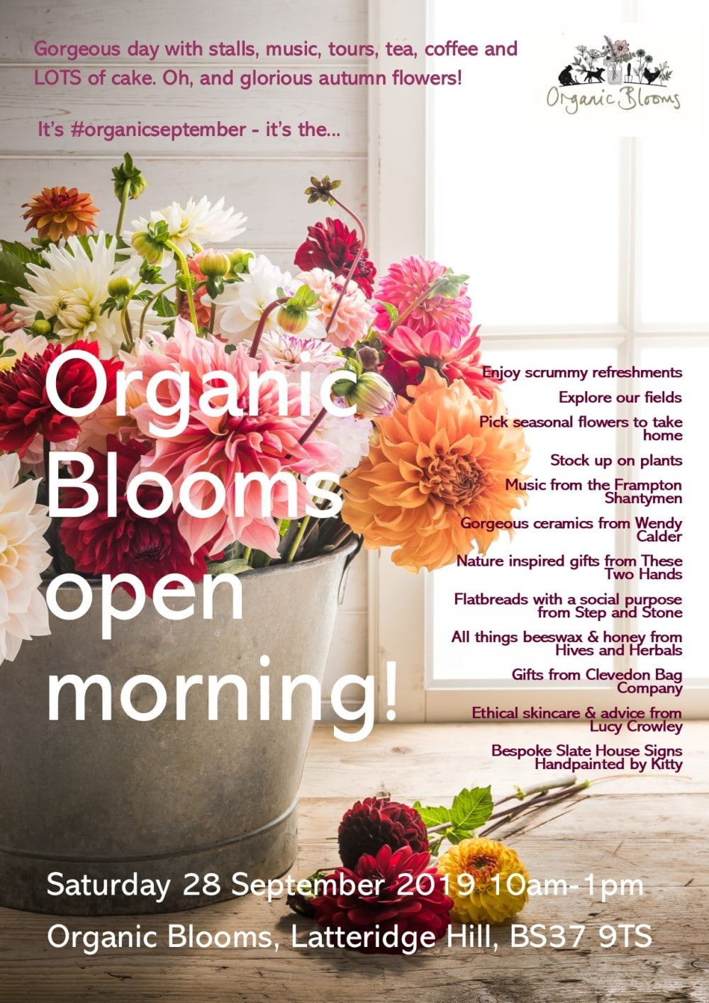 Our favourite day of the year - Organic Blooms open morning