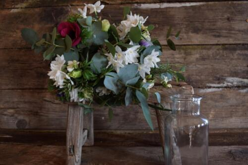 Seasonal Posy with vase