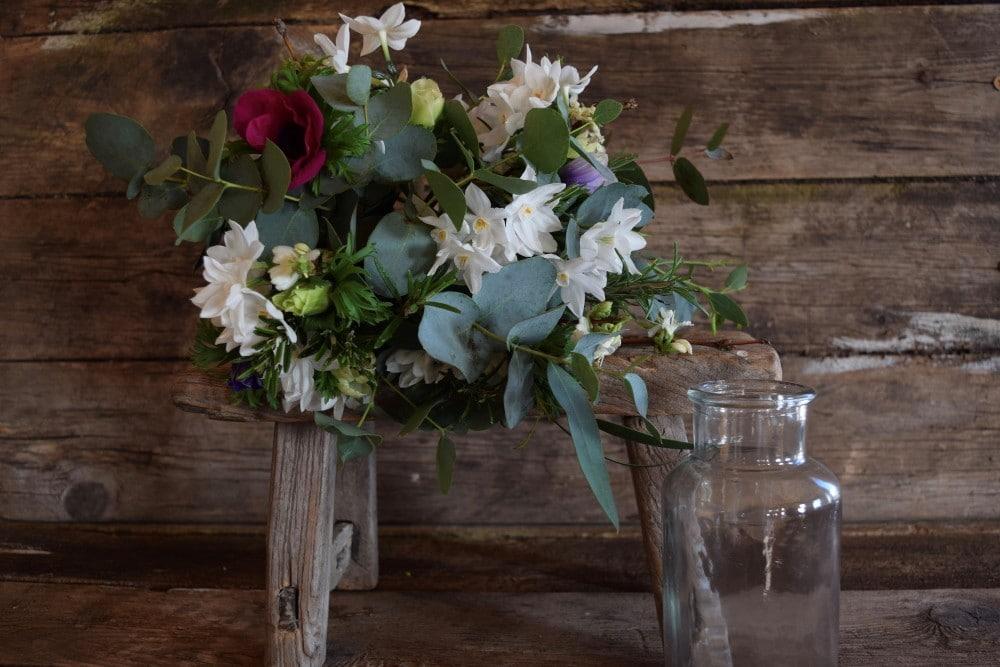 Seasonal Posy with vase