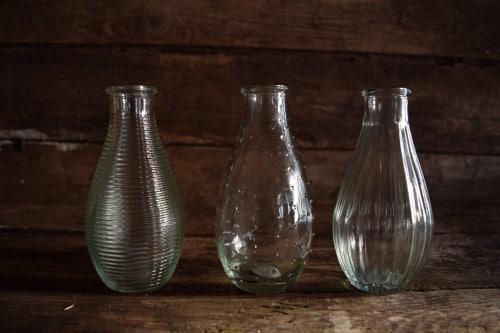 bottles for Pretty Posies of certified organic flowers from Organic Blooms